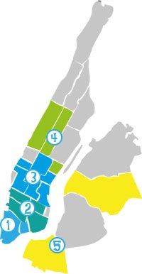mappa itinerario 5 new york