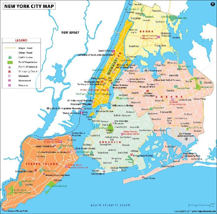 geografia new york