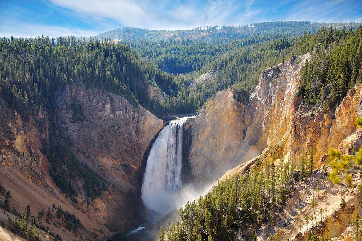 cascate yellowstone