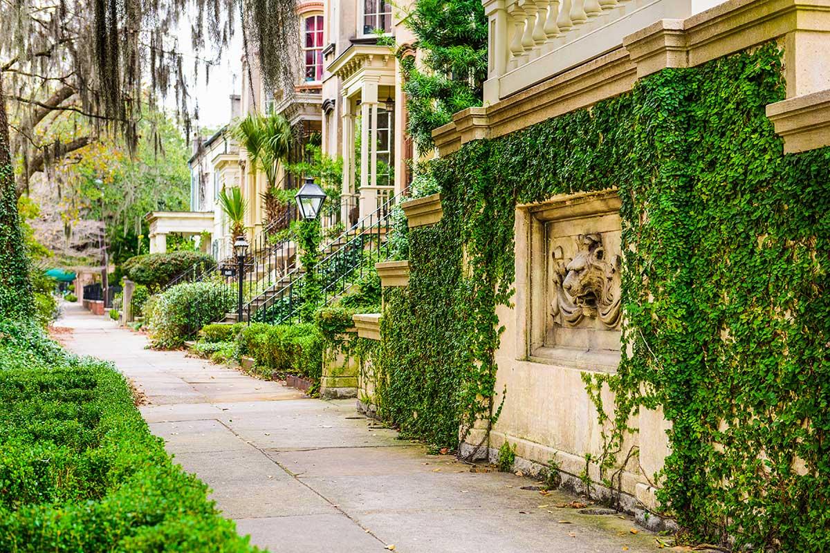 Savannah Georgia USA Victorian Historic District