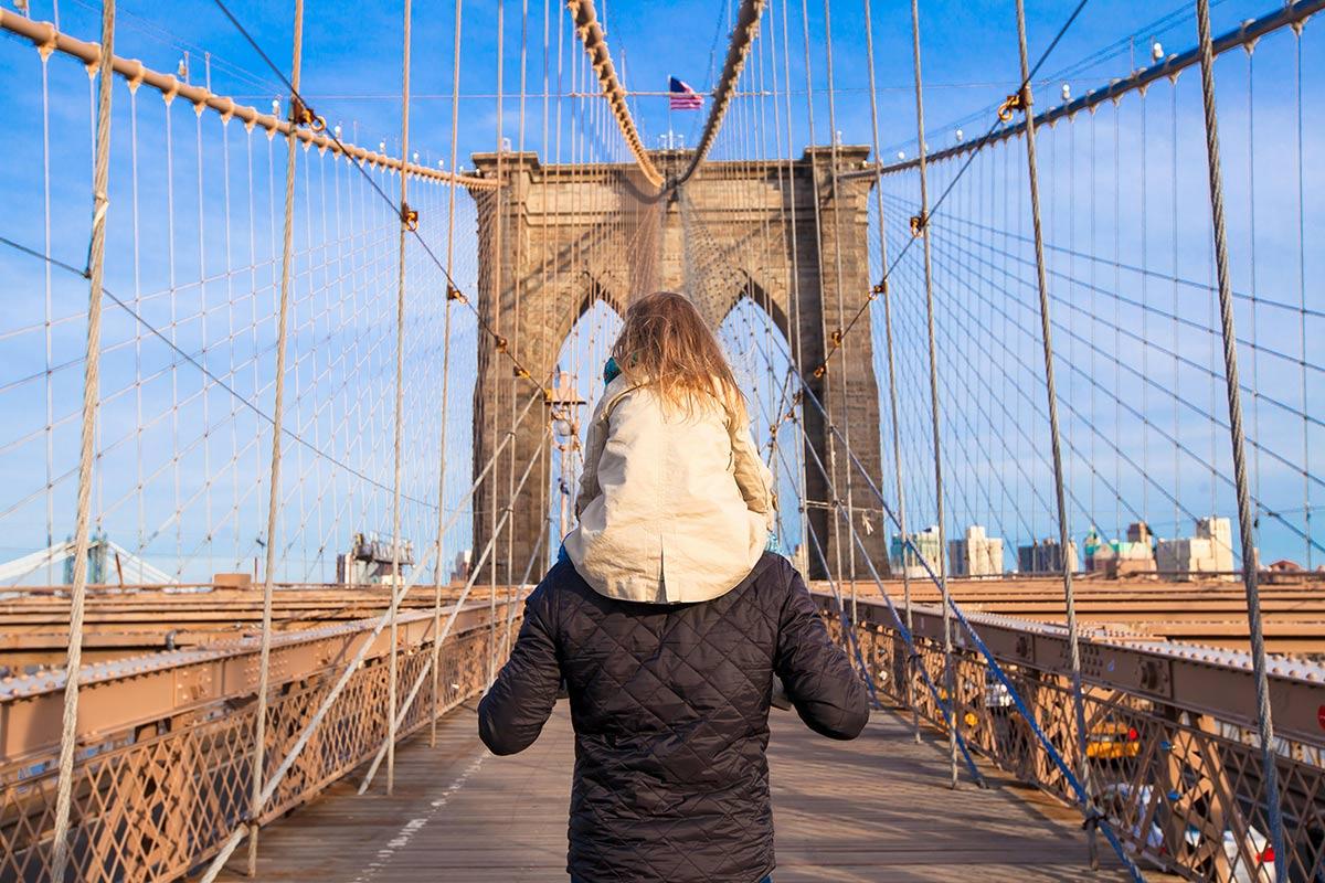 attraversare ponte brooklyn
