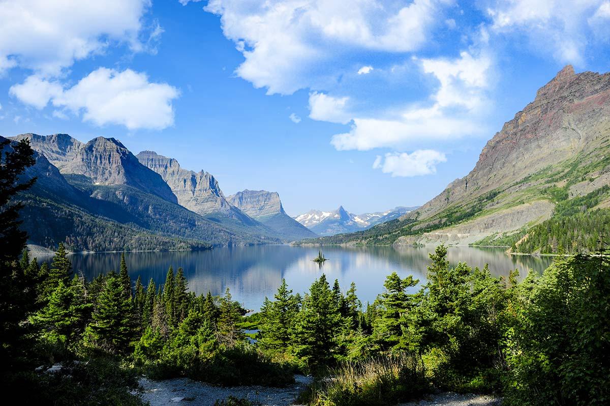 st marys lake glacier national park