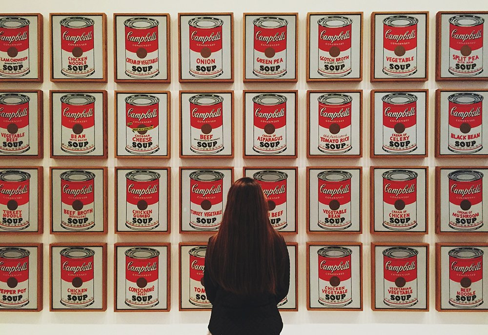 campbell's soup cans warhol- moma ny