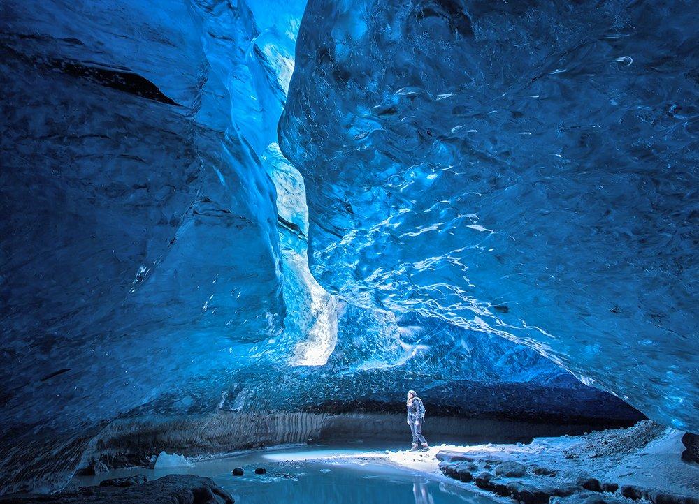 grotta di ghiaccio mendehall glacier