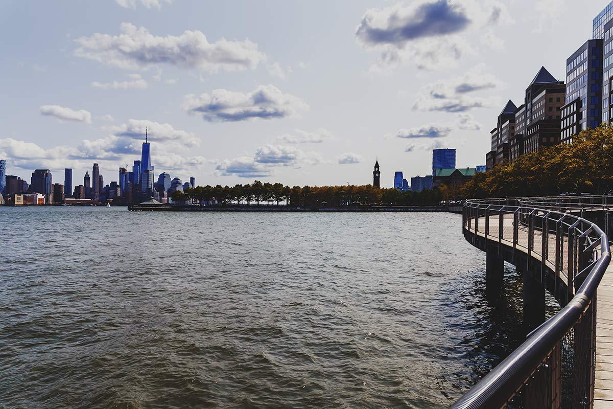 hoboken river side walk